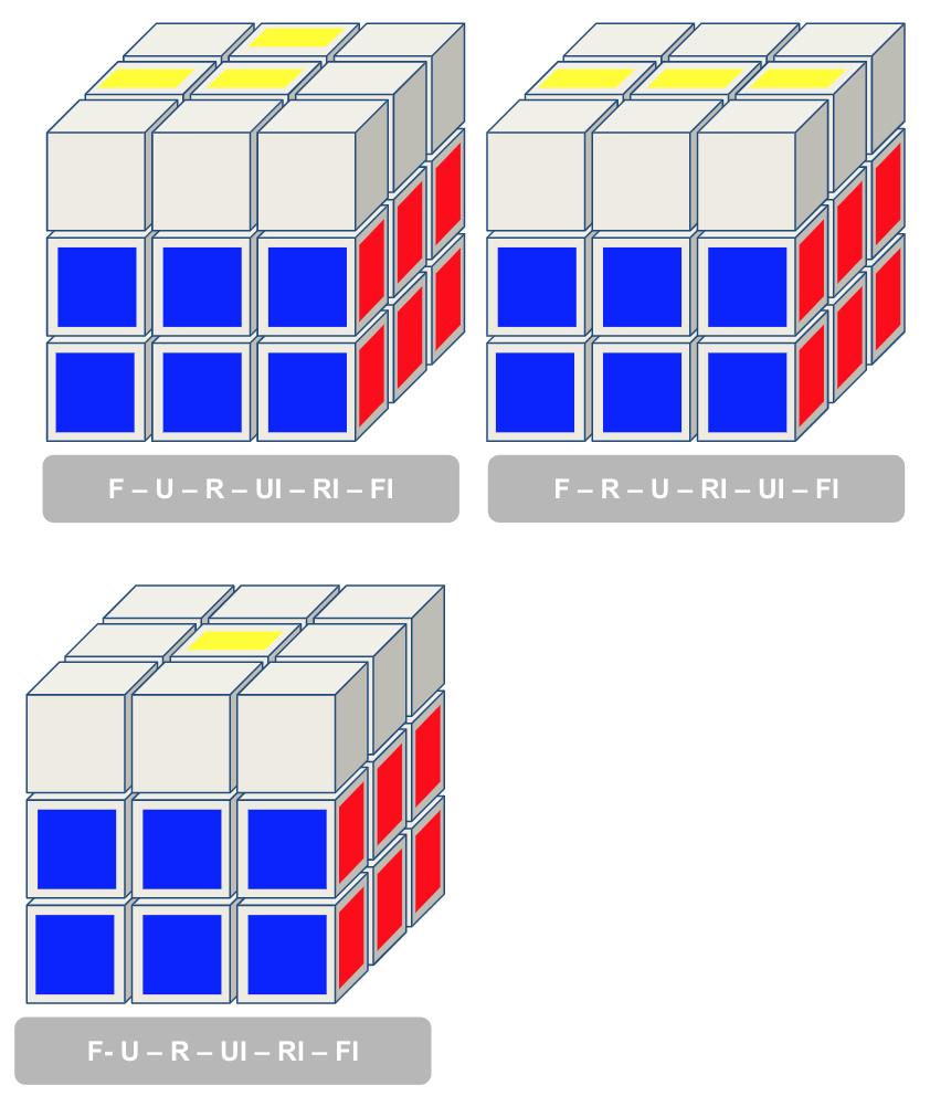 3x3 kubus geel kruis