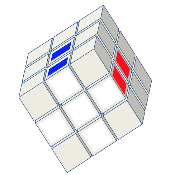 3x3 kubus oplossen kruis