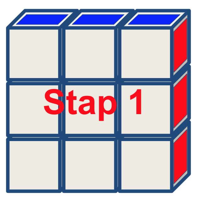 Rubiks Floppy stap 1