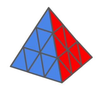 Pyraminx kubus